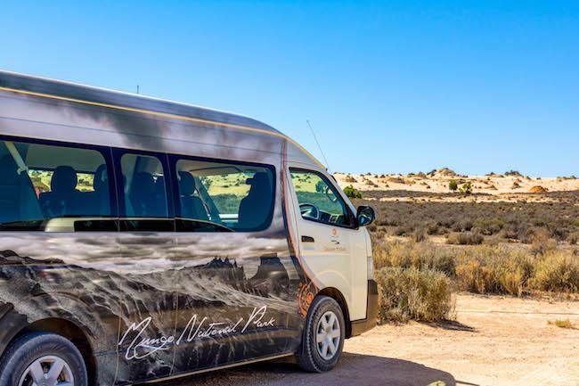 Australia, Mungo National Park, Tour Bus