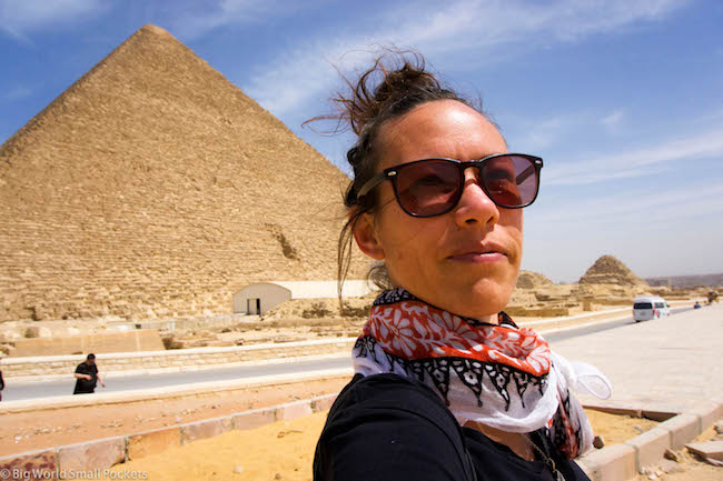 Egypt, Cairo, Pyramid Selfie