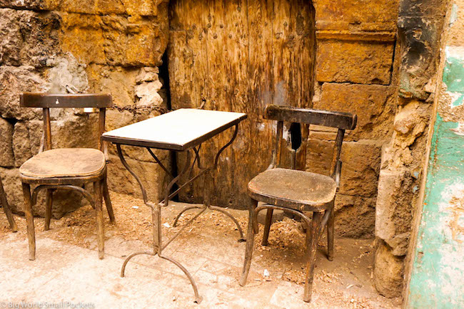 Egypt, Cairo, Table and Chairs
