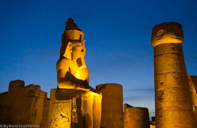 Egypt, Luxor, Temple at Night