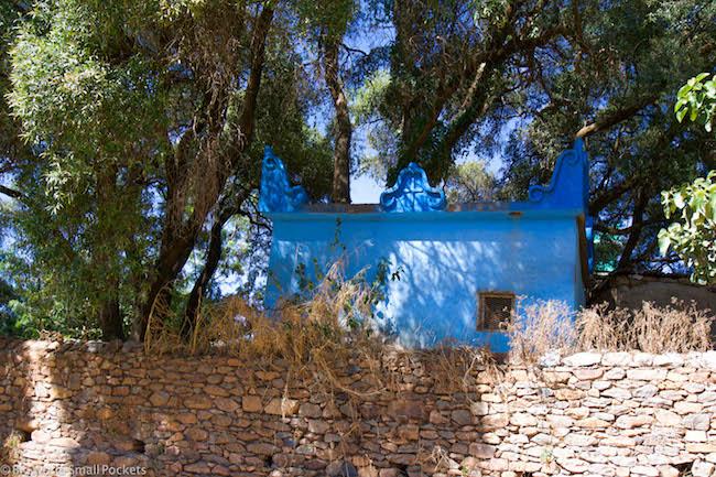 Ethiopia, Axum, Blue House