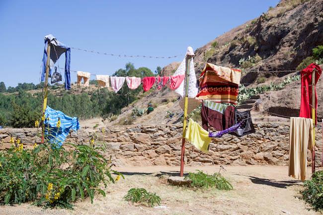 Ethiopia, Axum, Washing Line