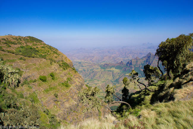 Ethiopia, Simien Mountains, Landscape
