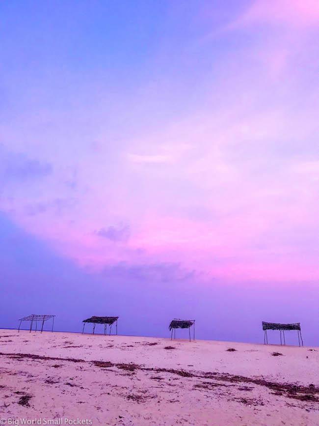 Kenya, Diani Beach, Sunset