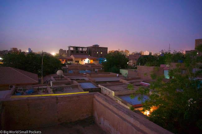 Sudan, Khartoum, Night Rooftop View