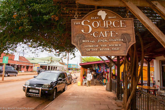 Uganda, Jinja, The Source Sign