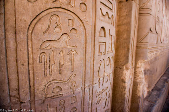 Egypt, Kom Ombo Temple, Hieroglyphs