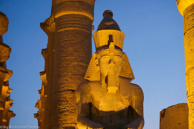 Egypt, Luxor, Ramses II at Night