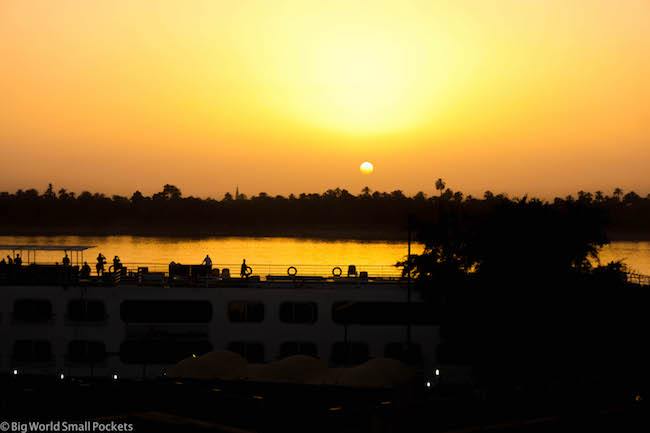 Egypt, Nile Cruise, Ship Sunset