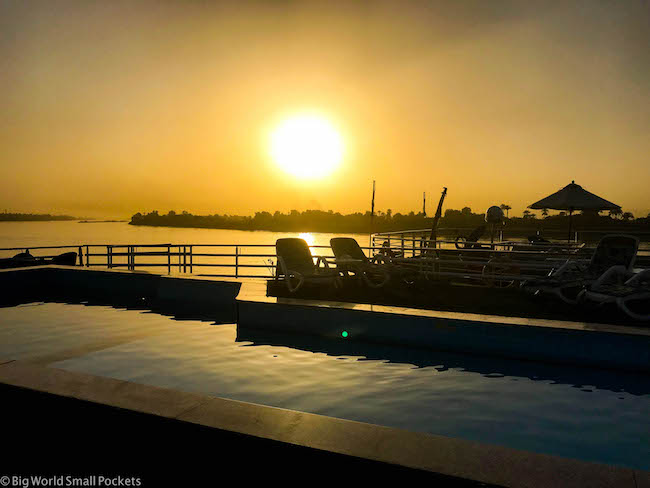 Egypt, Nile Cruise, Sunset Pool