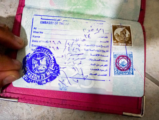Egypt, Visa, From Khartoum