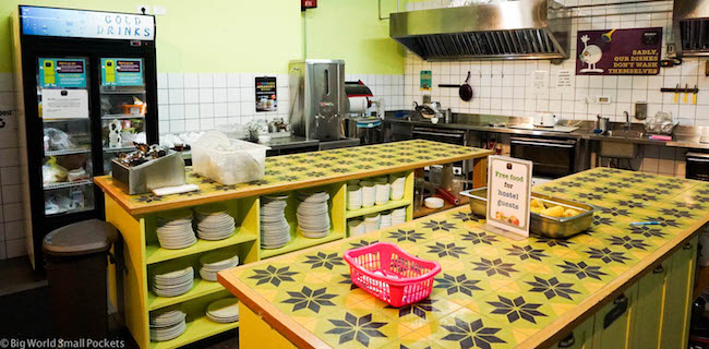 Israel, Tel Aviv, Abraham Hostel Kitchen