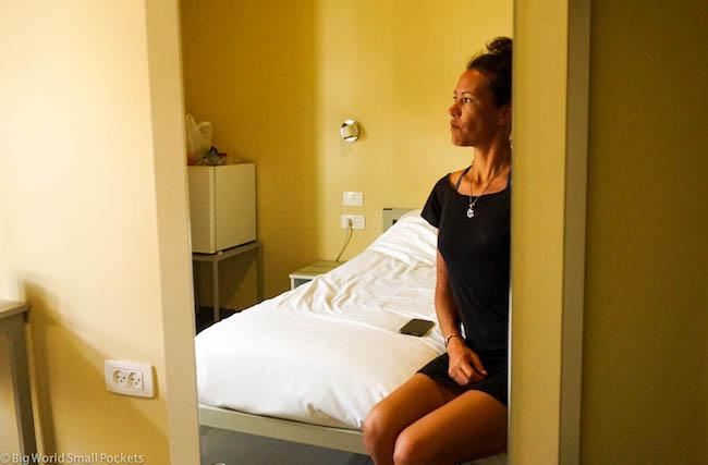 Israel, Tel Aviv, Abraham Hostel Me in Mirror