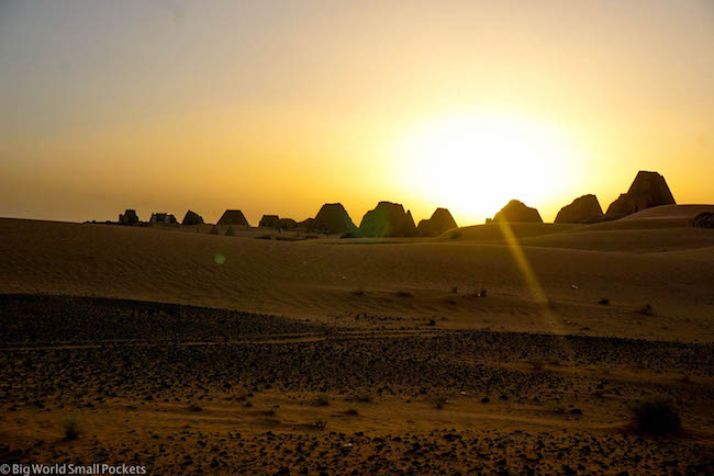 Sudan, Meroe, Sunset Scene