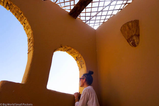 Sudan, Nubian Rest House, Arch Windows and Me