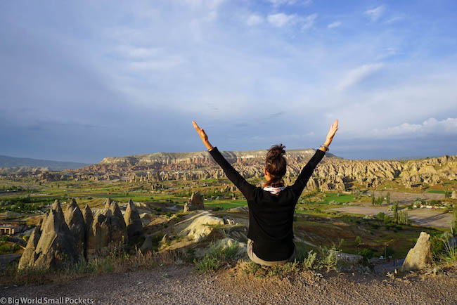Turkey, Cappadocia, Me at Sunset Point