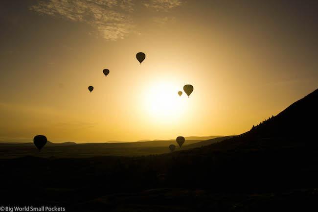 Turkey, Cappadocia, Sunset