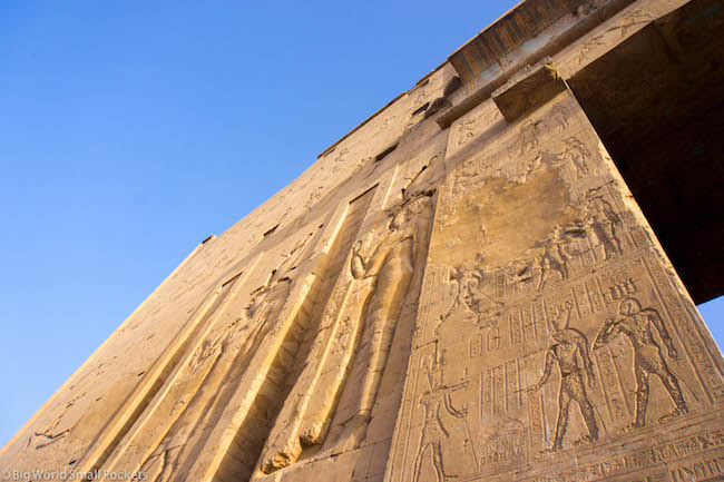 Egypt, Edfu Temple, Inscriptions