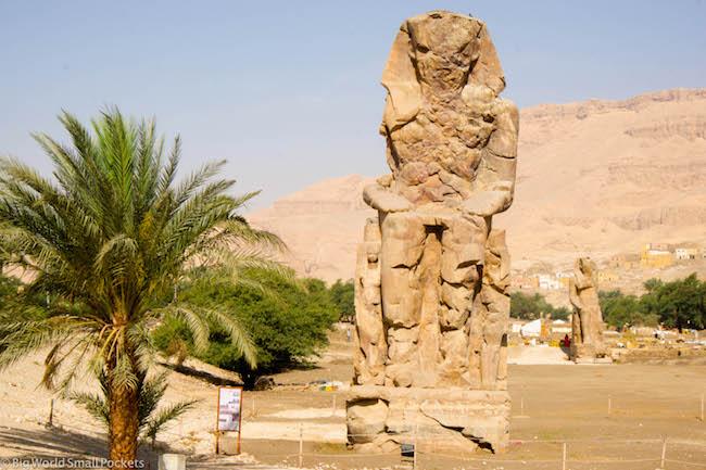 Egypt, Luxor, Colossal of Menmon