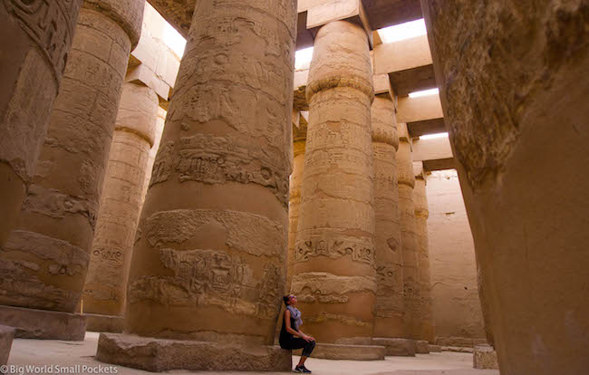 egypt  luxor  karnak temple forest of pillars