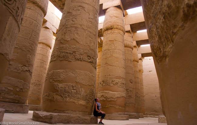 Egypt, Luxor, Karnak Temple Forest of Pillars