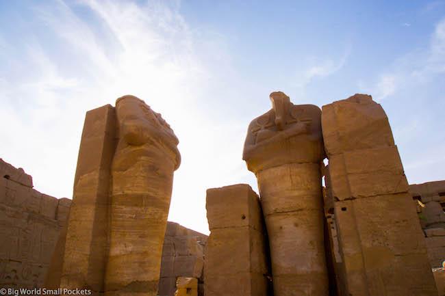 Egypt, Luxor, Karnak Temple Statues