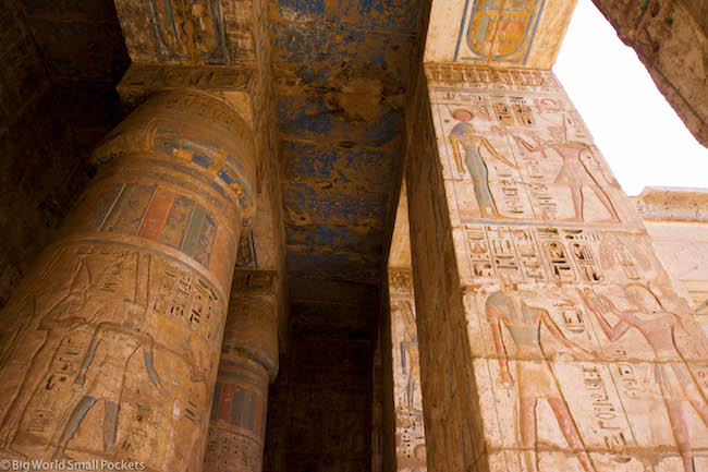 Egypt, Luxor, Medinat Habu Artwork