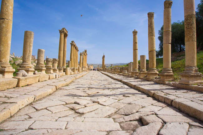 Jordan, Jerash, Roman Street