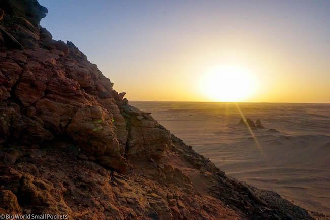 Sudan, Karima, Jebel Bharkal Sunset