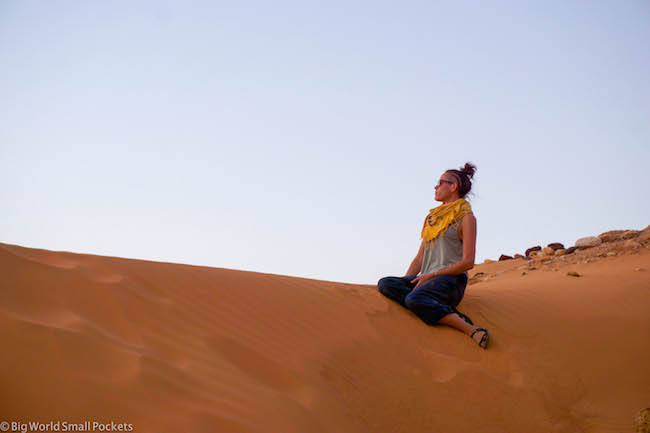 Sudan, Meroe, Me on the Sand Dune