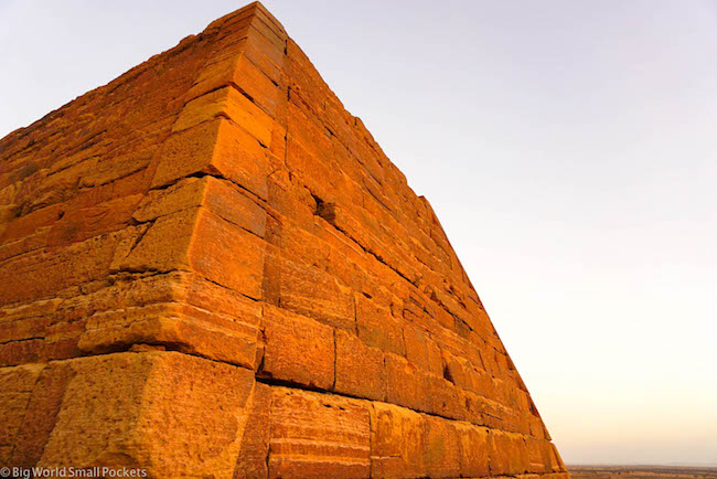 Sudan, Meroe, Pyramid Corner