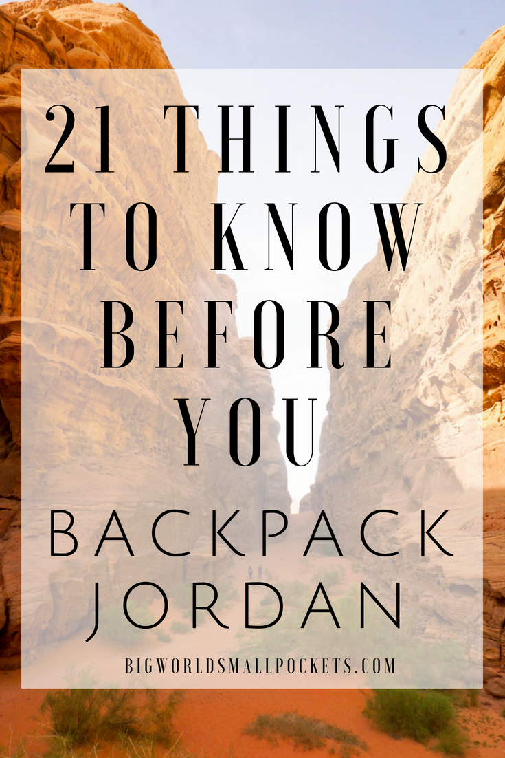 The 21 Things You Need to Know Before You Backpack Jordan {Big World Small Pockets}