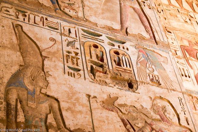 Egypt, Luxor, Inscriptions