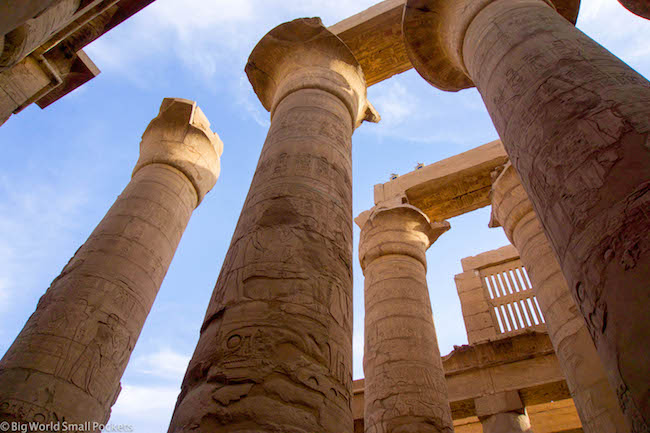 Egypt, Luxor, Temple Pillars