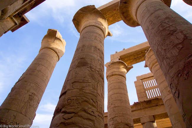 Egypt, Luxor, Temple Pillars