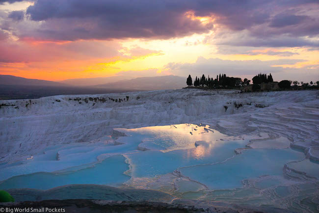 Turkey, Pamukkale, Sunset 2