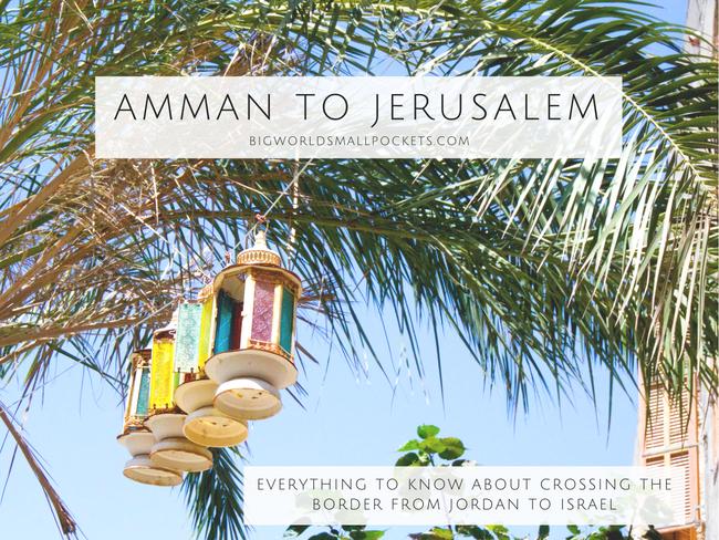 Amman to Jerusalem