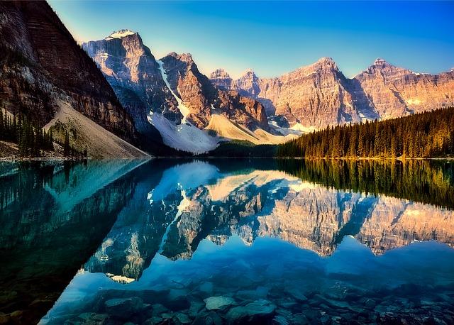 Canada, Lake, Moraine