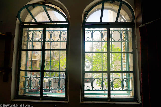 Israel, Jerusalem, Cafe Windows