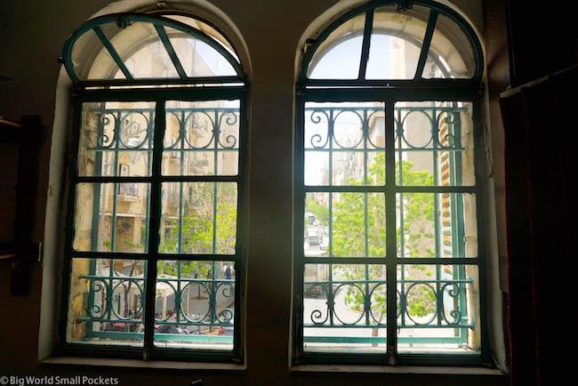 Israel, Jerusalem, Cafe Windows