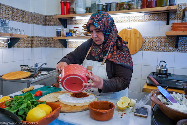 Lebanon, Beirut, Saj Making