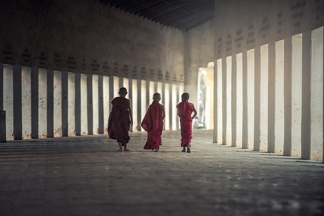 Myanmar, Buddhism, Children