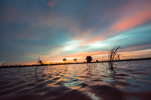 Myanmar, Water, Sunset