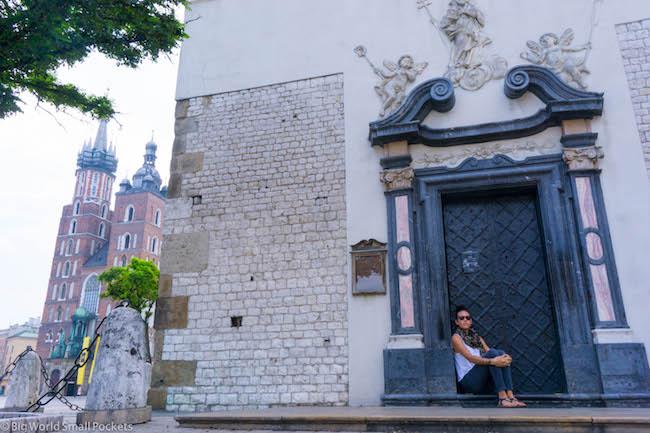 Poland, Krakow, Me in Doorway