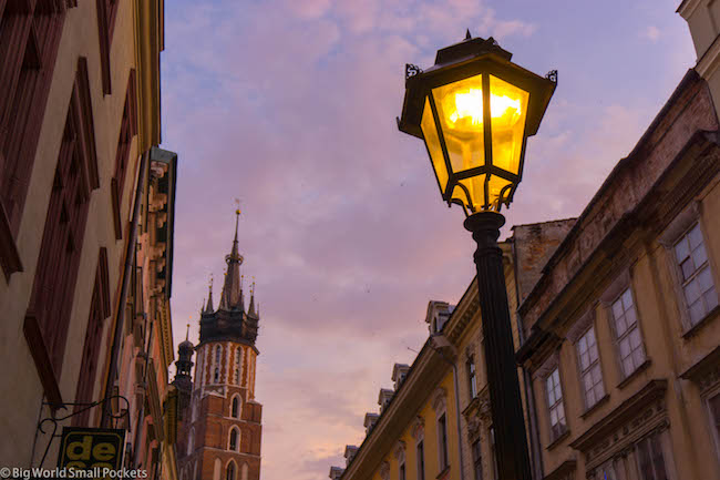 Poland, Krakow, Street Lamp