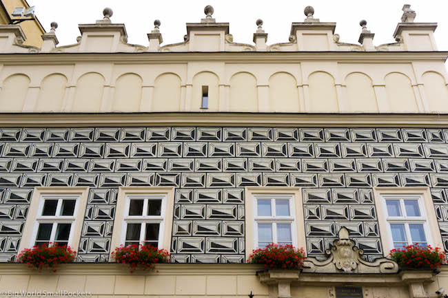 Poland, Krakow, Window Boxes