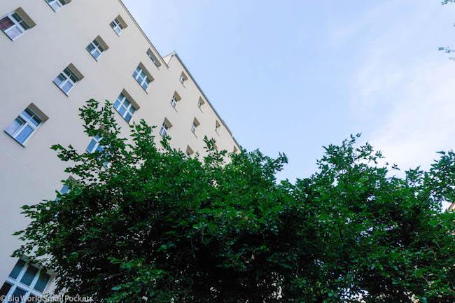 Prague, Dakura Hostel, Outside