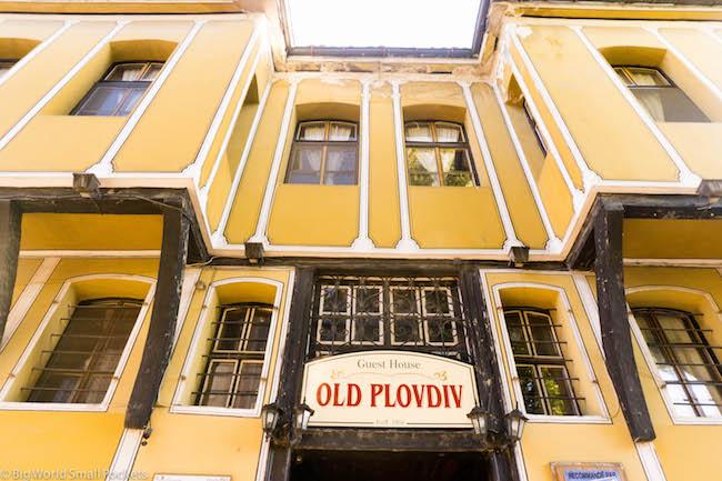 Bulgaria, Plovdiv, Old Hostel Entrance