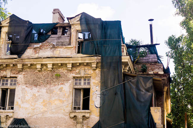 Bulgaria, Sofia, Crumbling Building
