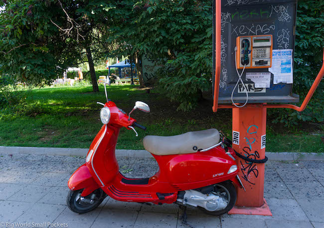 Bulgaria, Sofia, Scooter